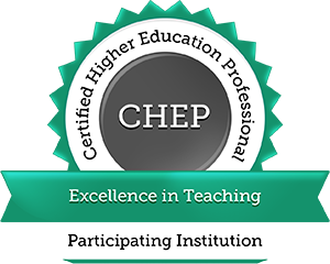 Certified Higher Education Professional Badge for Excellence in Teaching