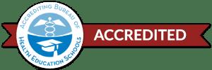 Accrediting Bureau of health education schools badge