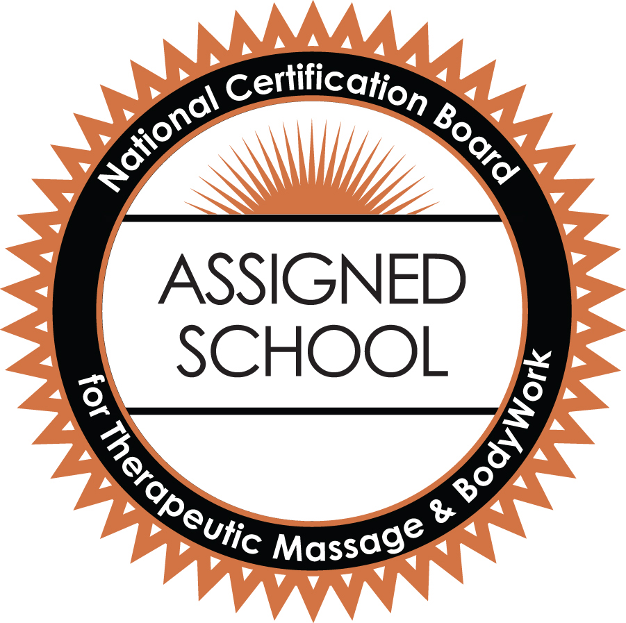 National Certification Board assigned school badge for therapeutic massage and bodywork